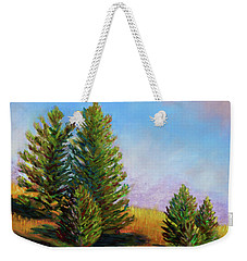 Evening Sun In Yellowstone Weekender Tote Bag by Polly Castor