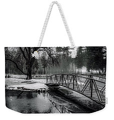 Weekender Tote Bag featuring the photograph Fade To Black by Kendall McKernon