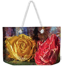 Faded Flowers Weekender Tote Bag