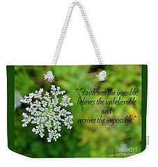 Faith Sees Weekender Tote Bag