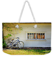 Weekender Tote Bag featuring the photograph Fall Bicycle Of Laramie by Craig J Satterlee