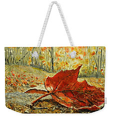 Fallen Leaf  Weekender Tote Bag by Betty-Anne McDonald