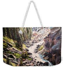 Falls Below Rimrock Lake Weekender Tote Bag