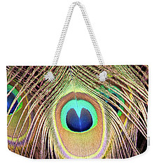 Weekender Tote Bag featuring the photograph Fan Of Feathers by Joye Ardyn Durham