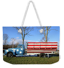 Farm Truck Wading River New York Weekender Tote Bag