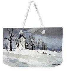 Farmhouse In Winter Weekender Tote Bag