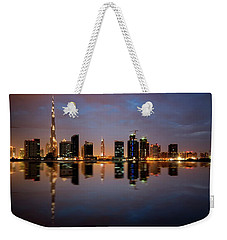 Fascinating Reflection Of Tallest Skyscrapers In Bussiness Bay D Weekender Tote Bag