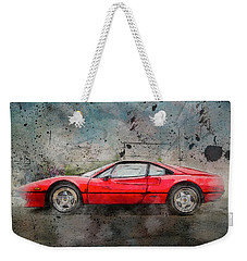 Weekender Tote Bag featuring the photograph Ferrari 308 by Joel Witmeyer