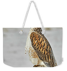 Weekender Tote Bag featuring the photograph Ferruginous Hawk by Doug Herr