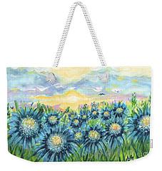 Field Of Blue Flowers Weekender Tote Bag by Holly Carmichael