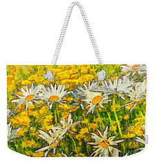 Field Of Daisies Weekender Tote Bag by Claire Bull
