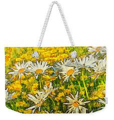 Field Of Daisies Weekender Tote Bag