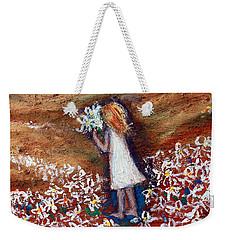 Field Of Flowers Weekender Tote Bag by Winsome Gunning