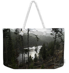 Firehole River In Yellowstone Weekender Tote Bag