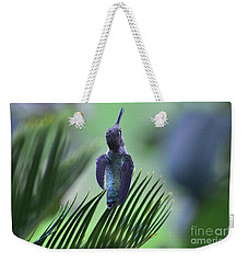 Weekender Tote Bag featuring the photograph First Warning by Debby Pueschel