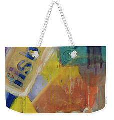 Weekender Tote Bag featuring the painting Fish Cafe by Susan Stone