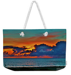 Fishing At Sunset Weekender Tote Bag by Craig Wood
