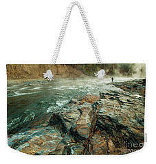Weekender Tote Bag featuring the photograph Fishing Day by Iris Greenwell