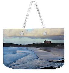 Weekender Tote Bag featuring the photograph Fistral Beach by Nicholas Burningham