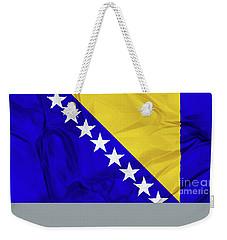 Flag Of Bosnia Weekender Tote Bag