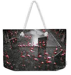 Weekender Tote Bag featuring the photograph Flamingo by Setsiri Silapasuwanchai