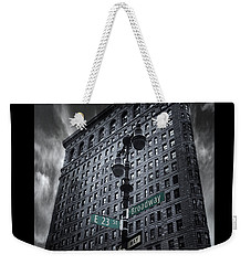 Weekender Tote Bag featuring the photograph Flatiron Noir by Jessica Jenney