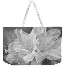 Fleurs Blanches - Black And White Weekender Tote Bag