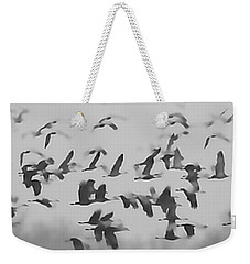 Flight Of The Sandhill Cranes Weekender Tote Bag