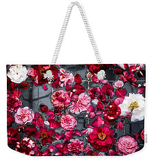Floating Camelia Blossoms Weekender Tote Bag