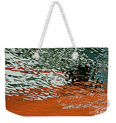 Weekender Tote Bag featuring the photograph Floating On Blue 43 by Wendy Wilton