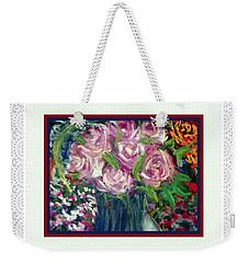 Floral Arrangement With Border Weekender Tote Bag