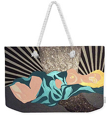 Weekender Tote Bag featuring the painting Flow by Erika Chamberlin