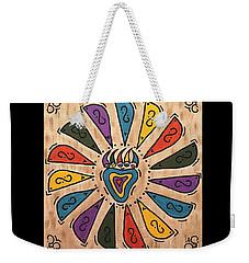 Weekender Tote Bag featuring the painting Flower Power by Susie WEBER