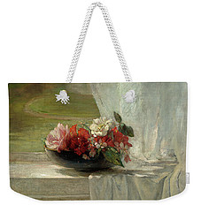 Flowers On A Window Ledge Weekender Tote Bag