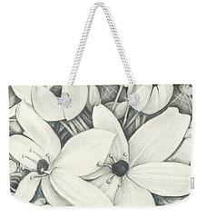 Flowers Pencil Weekender Tote Bag