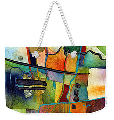 Weekender Tote Bag featuring the painting Fluvial  Mosaic by Hailey E Herrera
