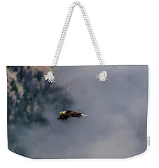 Weekender Tote Bag featuring the photograph Fly Like An Eagle by Yeates Photography