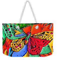 Weekender Tote Bag featuring the digital art Fly My Butterfly By Nico Bielow by Nico Bielow