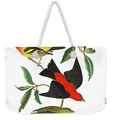 Weekender Tote Bag featuring the photograph Flying Away by Munir Alawi