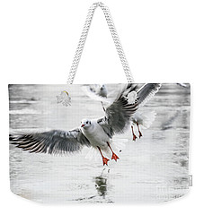 Flying Seagulls Weekender Tote Bag