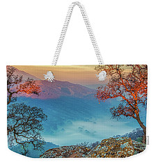 Fog In The Valley Weekender Tote Bag