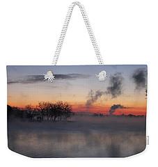 Fog On The Lake Weekender Tote Bag