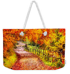 Fall Foliage Path 2 Weekender Tote Bag
