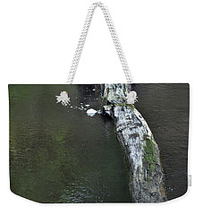 Weekender Tote Bag featuring the photograph Footbridge by Skip Willits