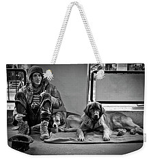 For The Love Of Dog Weekender Tote Bag
