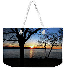 Ford Lake Sunset Weekender Tote Bag