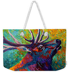 Forest Echo - Bull Elk Weekender Tote Bag