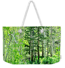 Forest Green Weekender Tote Bag by Marilyn Diaz