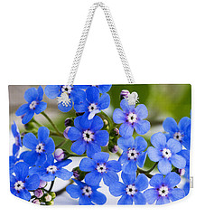 Weekender Tote Bag featuring the photograph Forget-me-not by Chevy Fleet