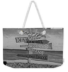 Fort Myers Beach Mural Weekender Tote Bag by Michiale Schneider